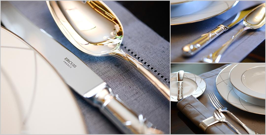 Produktfoto Service Anbieter  Tischkultur Besteck Geschirr Set Spezialist Chrom Spiegel  Metall Produktbilder AMZ Produktfoto-Service