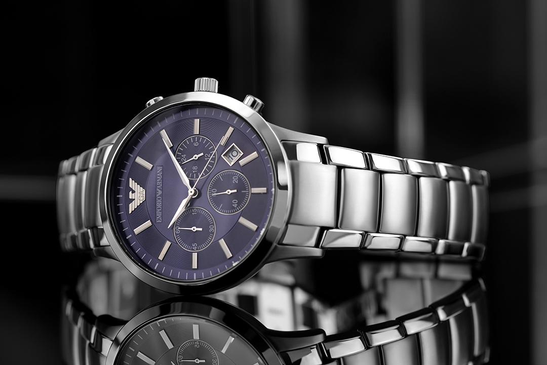 Emporio Armani Fotograf Onlineshop Uhren Herrenuhren Schmuck  Modeschmuck Produktbilder