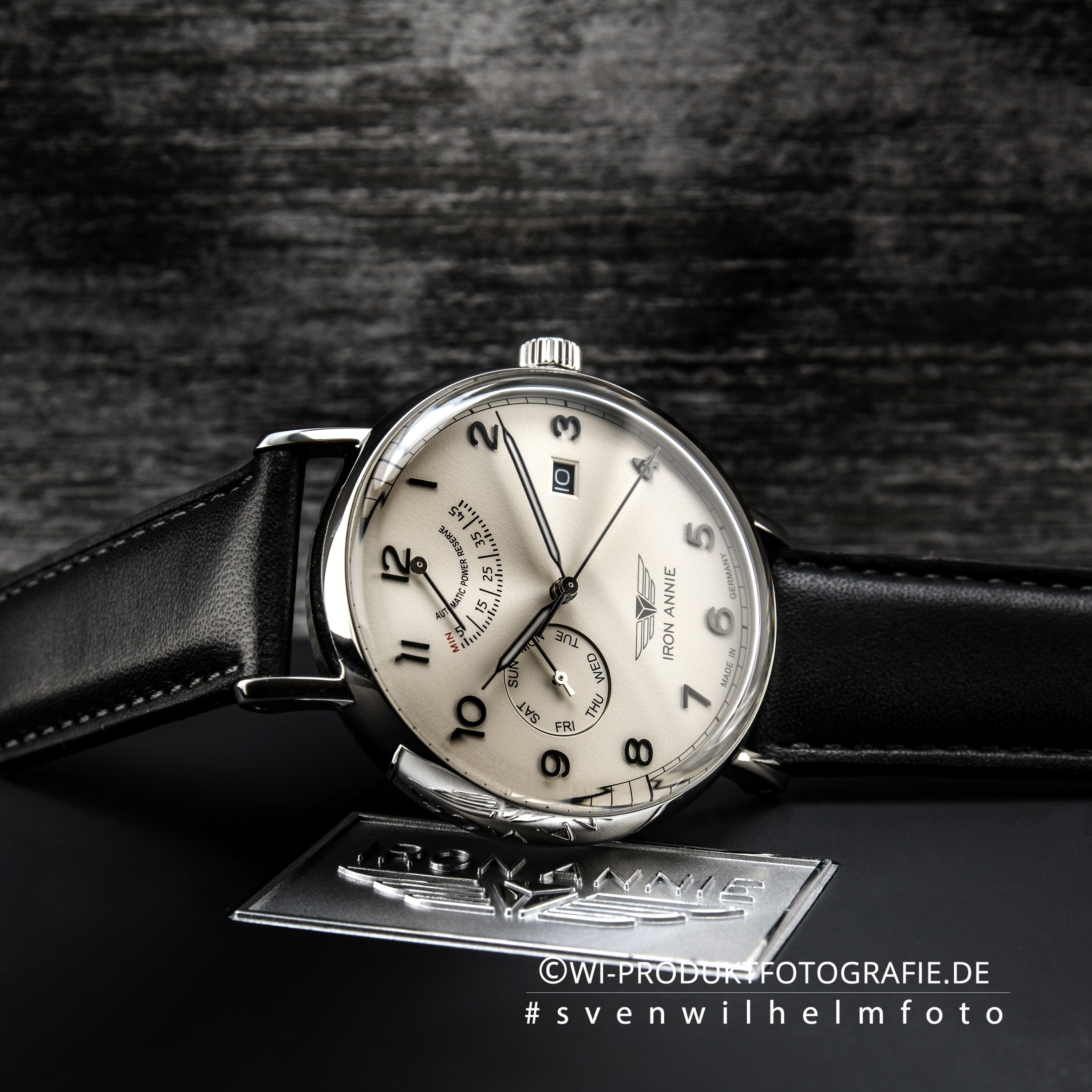 Uhrenfotograf Iron Annie 5960-5 Uhrenfotografie Profi Spezialist Chrom Gold Edelstahl